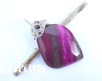 Soul of the Forest * silver-filled wire wrapped natural stone pendant