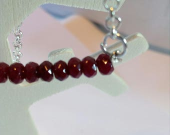 long necklace with Garnet beads