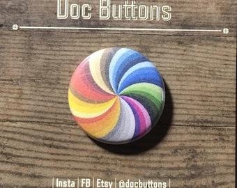 Rainbow Swirl • Pin/Button/Magnet/Sticker