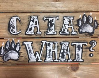 Cata-what? Catahoula leopard dog sign