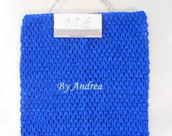 6/9 years strapless Royal Blue stretchy crochet tutu top