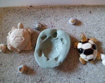 silicone mold for polymer clay wepam mosaic turtle