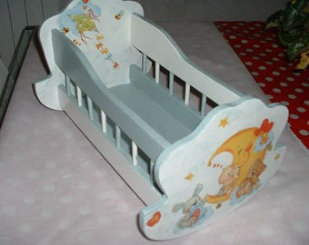 WOODEN cradle for Doll or reborn - homemade