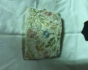 Vintage beaded and embroidered ladies wallet