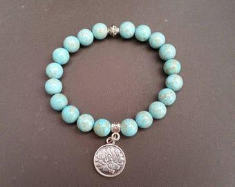 Turquoise (8 mm beads) bracelet