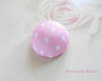 fabric 4 round cabochons pea pink pale 20mm