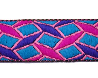Pink 3 cm x 1 m blue Jacquard Ribbon
