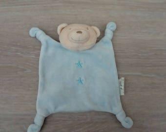 Bear velvet baby blanket