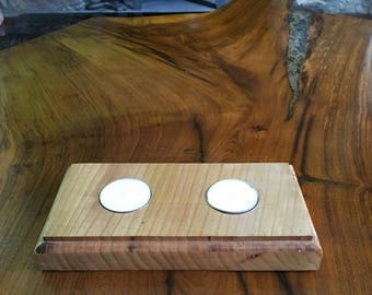 Wooden Cherry Tealight Holder Large, Birthday, Housewarming, Valentines, Mothers Day, Gift, Present, Rustic Homeware