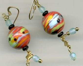 """-30% Artisanales 14KT gold plated earrings """"she made me see..."""""""