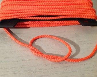 Neon 3 mm neon orange polyester cord