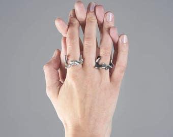 Organic silver ring ,black silver ring, oxidised silver ring, contemporary ring, statement ring, modern silver ring, designer ring OLIISA
