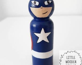 9cm Captain America peg doll