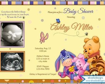 Winnie The Pooh Baby Shower Invitation   Winnie The Pooh Baby Shower Invite    Storybook Baby