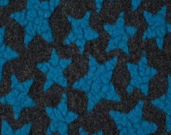 Woolen stars fabric blue