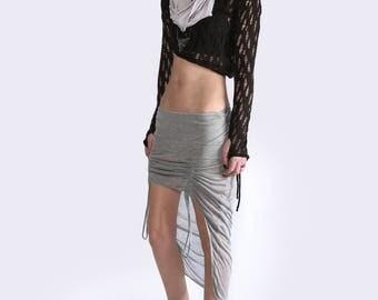 Futuristic Raised Front Skirt Grey / Womens / Raised / Unique / S M L