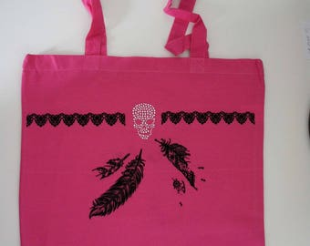Canvas - tote bag - Pink Tote Bag
