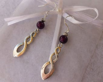 """Plum"" earrings"