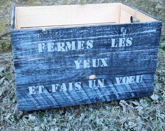 Wooden wheels Vosges, UNIQUE toy bin