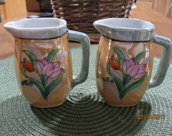 Lovely Vintage Japanese Lusterware Pitchers/Creamers