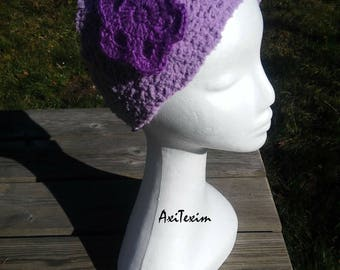 Big and soft purple color crochet hair band