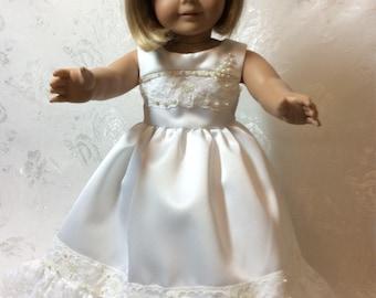 Lovely Wedding Dress fits American Girl Doll