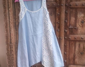 long tunic lace encrusted with