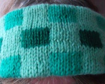 Green reversible ear warmer headband