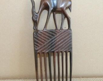 Deer animal Brown Africa wooden comb