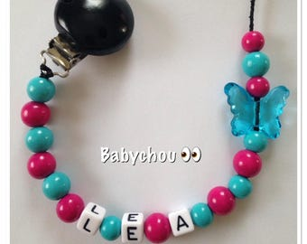 Sweet wooden with name Butterfly beads