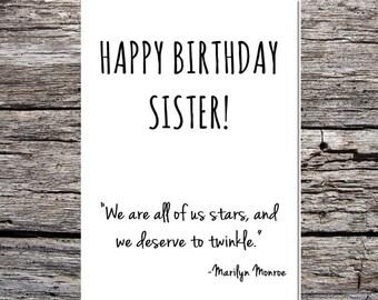 inspirational funny birthday card happy birthday sister marilyn monroe quote #4