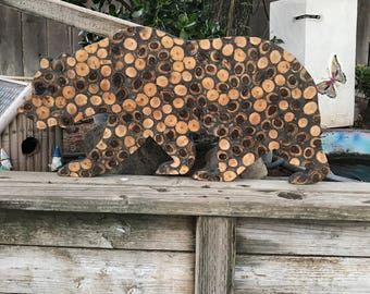 Wooden California Bear