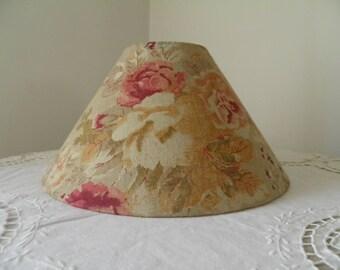 floral design linen Lampshade