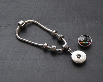Bracelet EVO stainless steel medium Cabochon snap 18-20mm (available in 3 sizes)