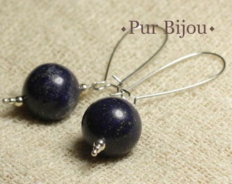 Gemstone - Lapis Lazuli 16 mm earrings