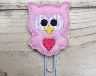 cute owl planner clip, felt paper clip, kawaii, planner clip, planner accessory, planner accessories, planner supplies, cute planner