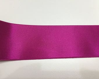 Large dark fuchsia satin ribbon