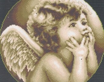"""Kit embroidery Canvas collection """"Angel"""" 40 x 40 cm"""