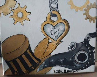 Steam punk style painting