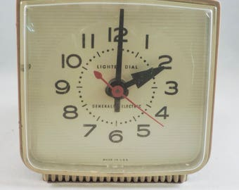 Vintage Mid-Century General Electric alarm clock from the 1950s