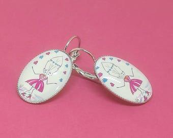 Boucles d'oreilles ovales argentées Lily la Plume