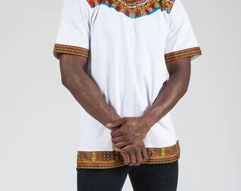Men's African Dashiki Print T-shirt