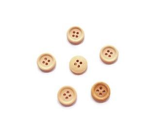15mm wooden buttons
