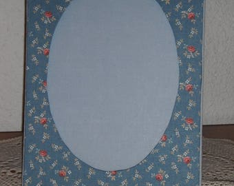 Cardboard picture frame / liberty fabric lining