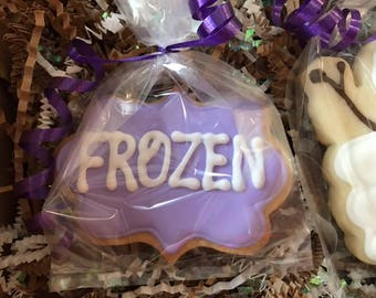 Frozen  Cookies, Frozen Birthday Party, Frozen Favors