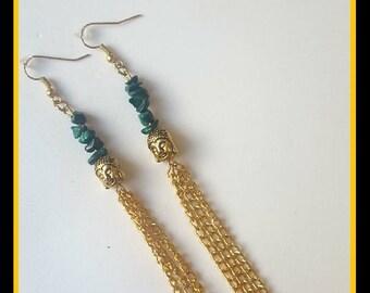 Malachite Crystal Earrings