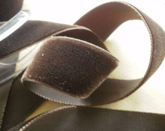 Width 35 mm, dark brown velvet Ribbon