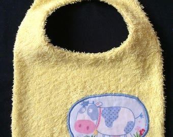 "Bib Terry cloth and cotton ""Farm"""