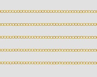 3 meter length of chain link gold tone 5, 5 x 3, 5 x 0, 6mm