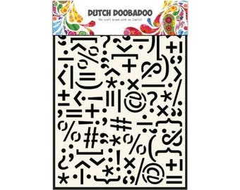 Stenciled Dutch Doobadoo Mask Punctuation Marks A5 new stencil Art